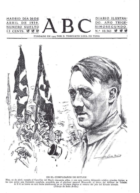 Portada del ABC del 20 de abril de 1939.