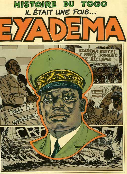 Portada del cómic sobre la vida de Gnassingbé Eyadema.