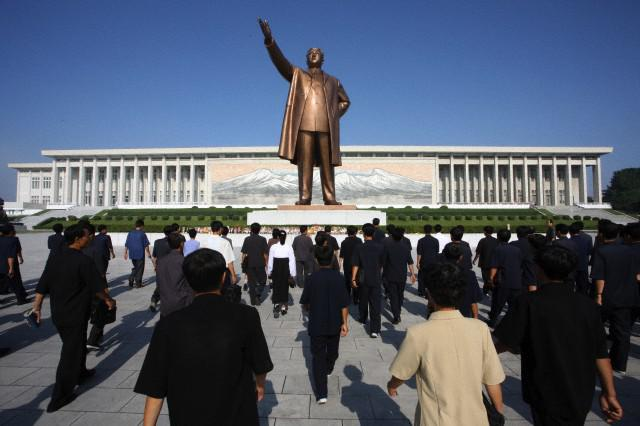 Estatua de Kim Il Sung en Pyongyang, imagen de Corbis