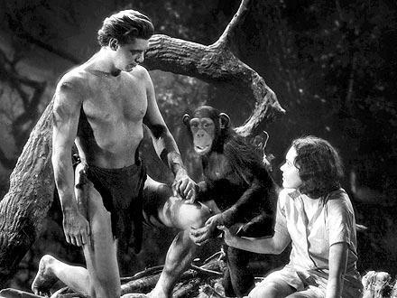 Escena de Tarzán de los monos de Metro Goldwyn Mayer.