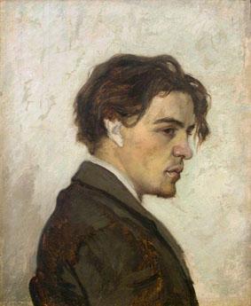 Retrato de Antón Chékhov por su hermano Nikolái Chékhov.