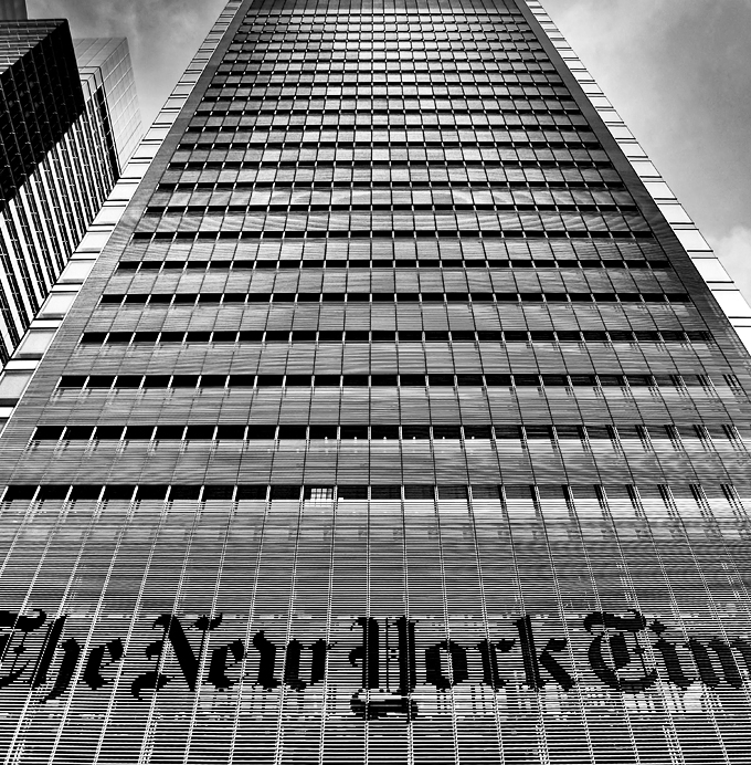 El edificio New York Times, Nueva York, 2012. Fotografía: Geoff Livingston (CC).