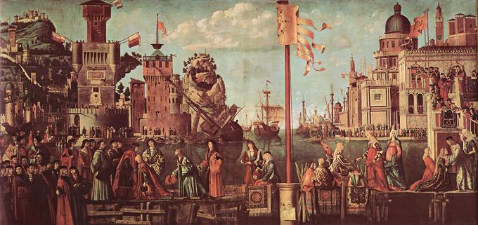 Encuentro de los novios Vittore Carpaccio ca. 1495