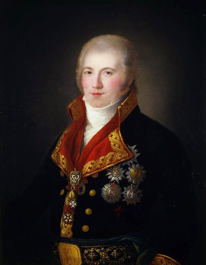 Retrato de Manuel Godoy como Caballero del Toisón Agustín Esteve ca. 1807