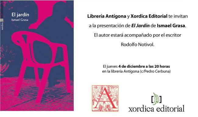 invitacion El jardin Ismael Grasa