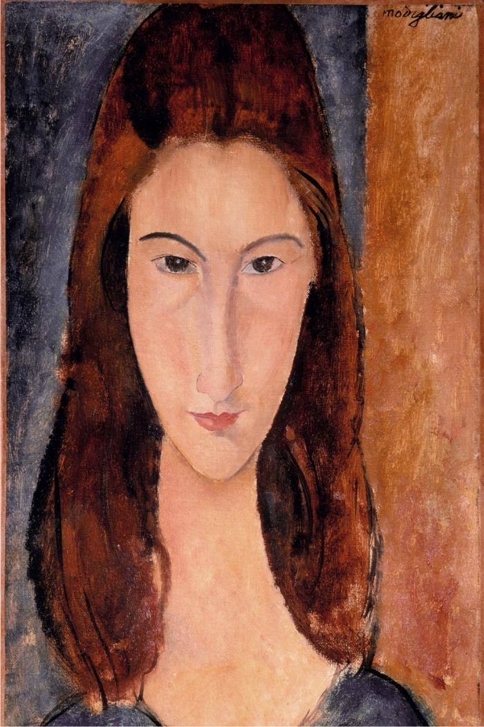 Retrato de Jeanne Hébuterne, de Amedeo Modigliani.