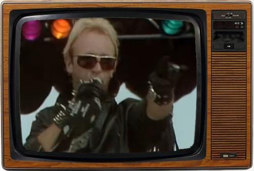 Rob Halford derrochó carisma y elegancia durante la actuación de Judas Priest (imagen: ABC)