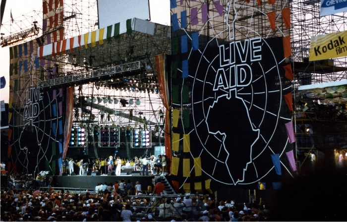 Live Aid en el JFK Stadium, Philadelphia, 1985. Foto: Squelle (CC)