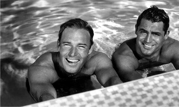 Randolph Scott y Cary Grant. Foto: Wikicommons.