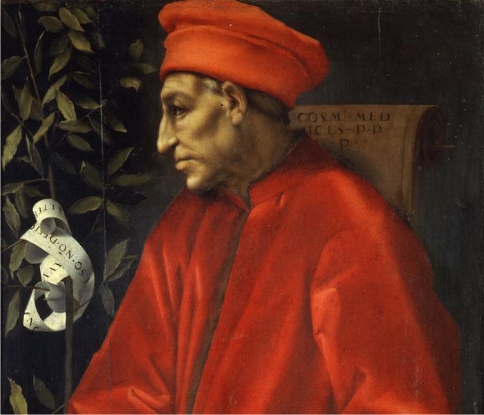 Retrato de Cosimo de Medicini, por Pontormo.