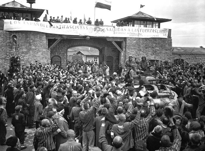 Mauthausen 1945. Fotografía Donald R. Ornitz US Army DP