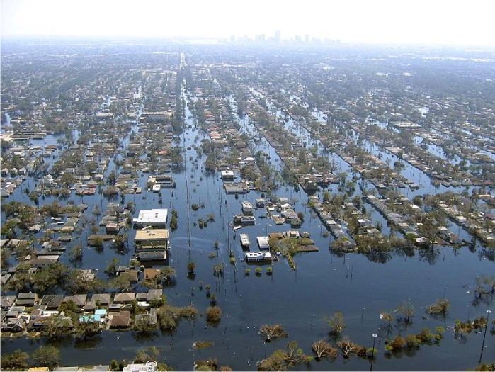 Nueva Orleans tras el huracán Katrina. Foto: Mark Moran (DP)