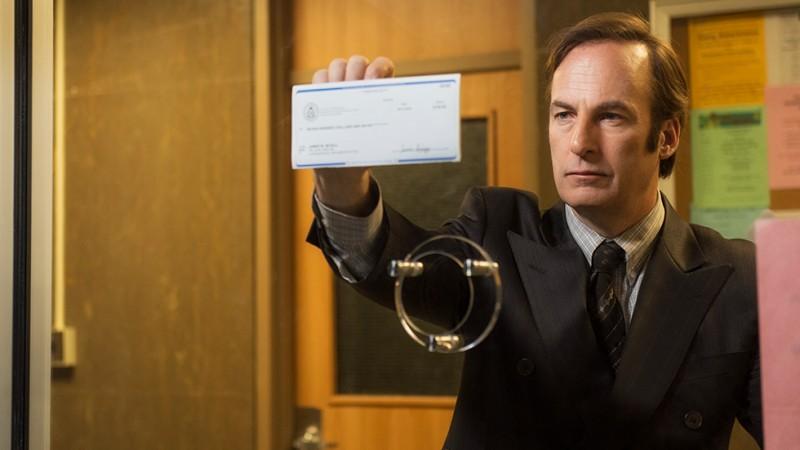 Nuestro abogado favorito reclamando su paga (foto; AMC)