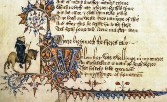 Manuscrito Ellesmere, siglo XV.