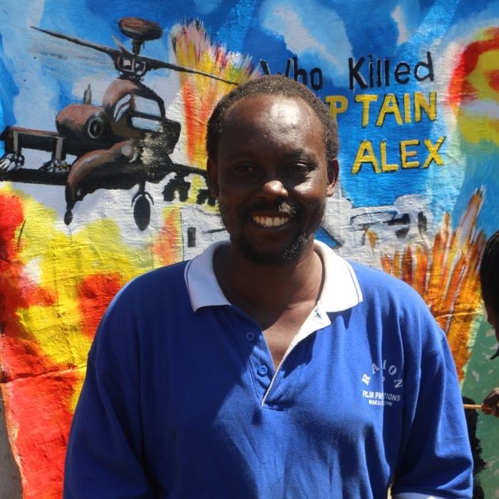 Isaac Nabwana. Fotografía cortesía de Isaac Nabwana y Alan Hofmnanis.