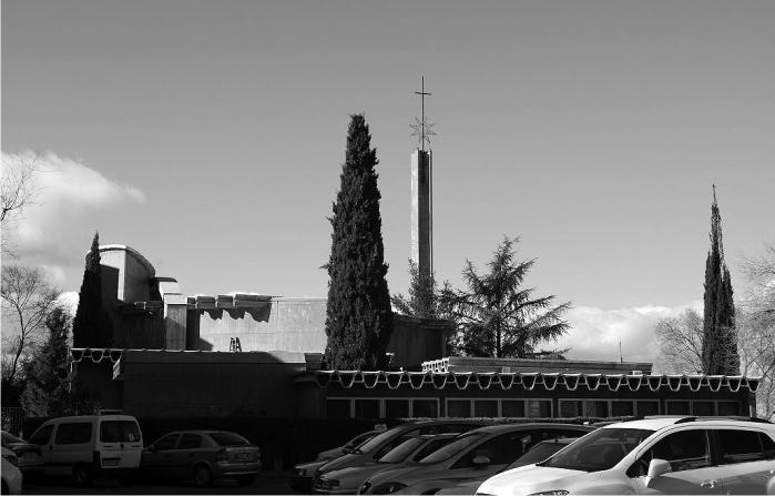 Santa Ana y Nuestra Señora de la Esperanza. Miguel Fisac Serna. 1966.
