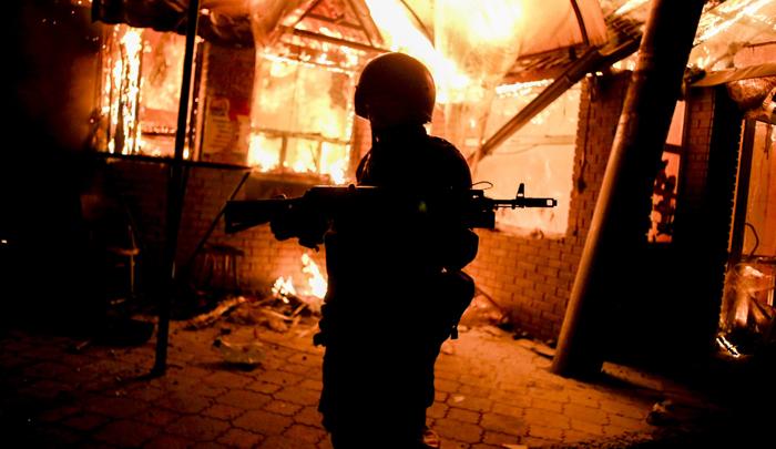 Soldado separatista en el este de Ucrania (foto: Corbis)