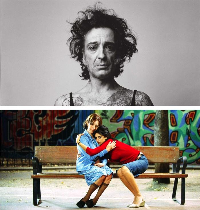 Fragmento de Autorretrato. Mi lado femenino. Alberto García-Alix, 2001 y fotograma de Volver. Pedro Almodóvar, 2006. Imagen: El Deseo S.A.