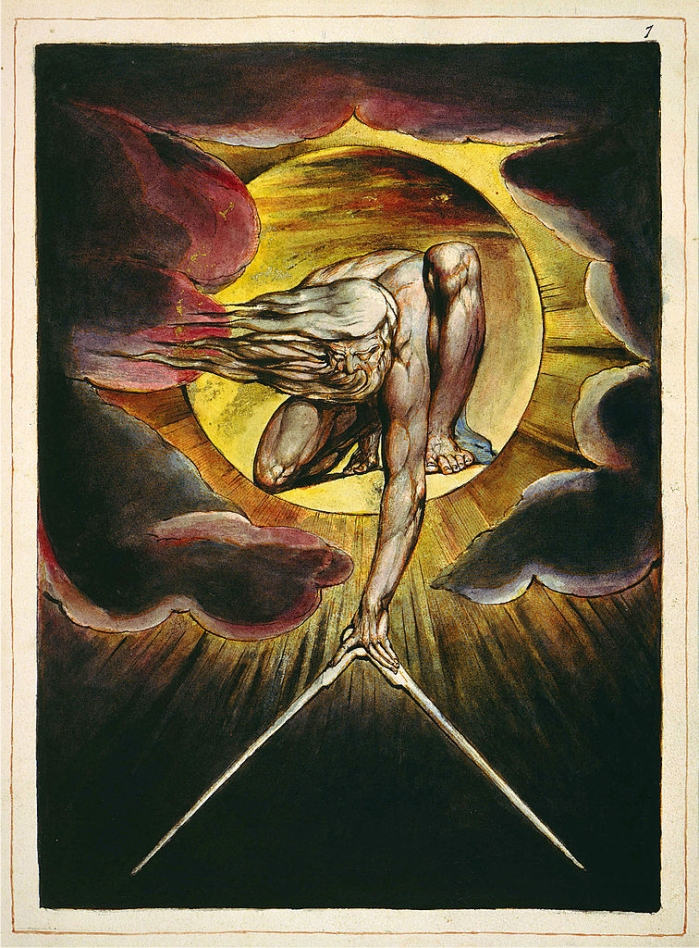 El anciano de los días, de William Blake (DP)
