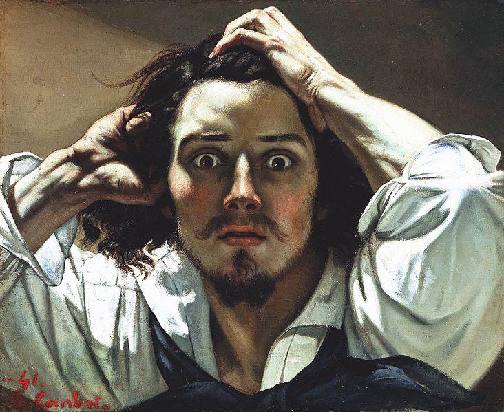 El hombre desesperado, autorretrato de Gustave Courbet. (DP)