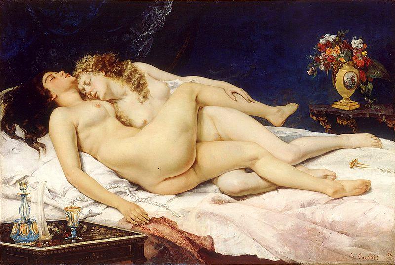 El sueño, de Gustave Courbet. (DP)