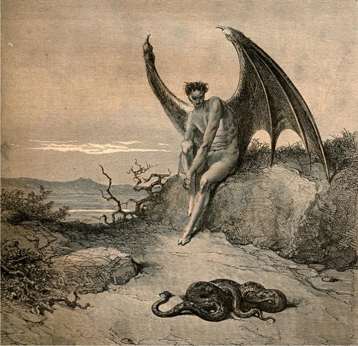 Ilustración de de Gustave Doré para El Paraíso perdido de Milton (DP)