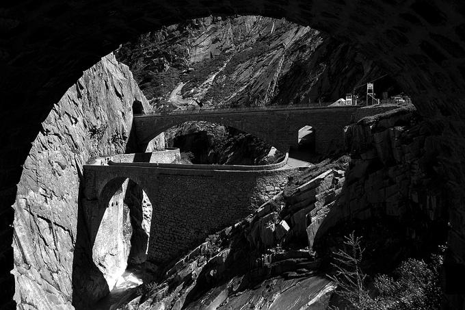 Teufelsbrücke (puente del diablo) en Andermatt (Suiza). Fotografía: Kecko (CC)