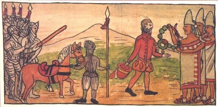 Ilustración de Historia de las Indias de Nueva España e Islas de Tierra Firme, de Diego Durán, siglo XVI.