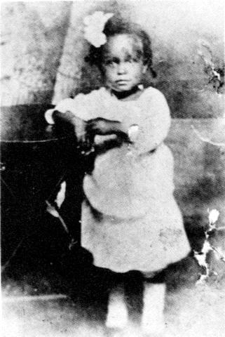 Billie Holiday a la edad de dos años. Foto: DP.