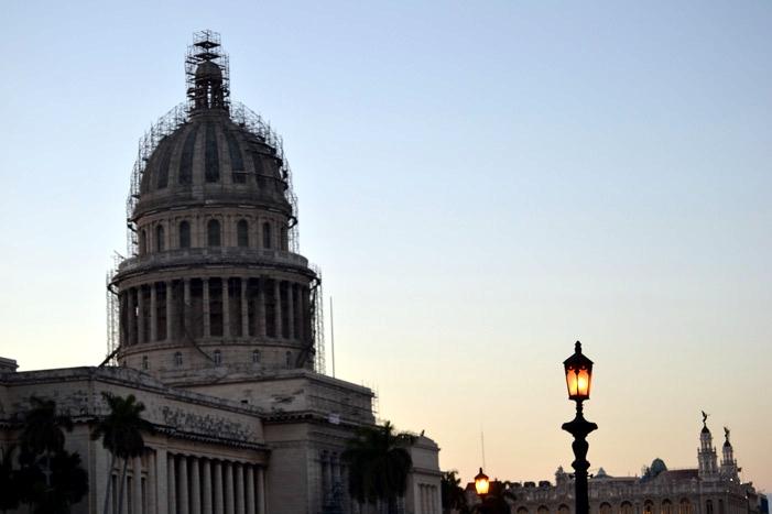 Cúpula del Capitolio en reconstrucción desde 2011.