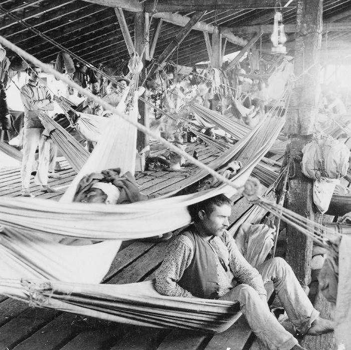 El último campamento español en Cienfuegos Cuba 1898. Strohmeyer Wyman2