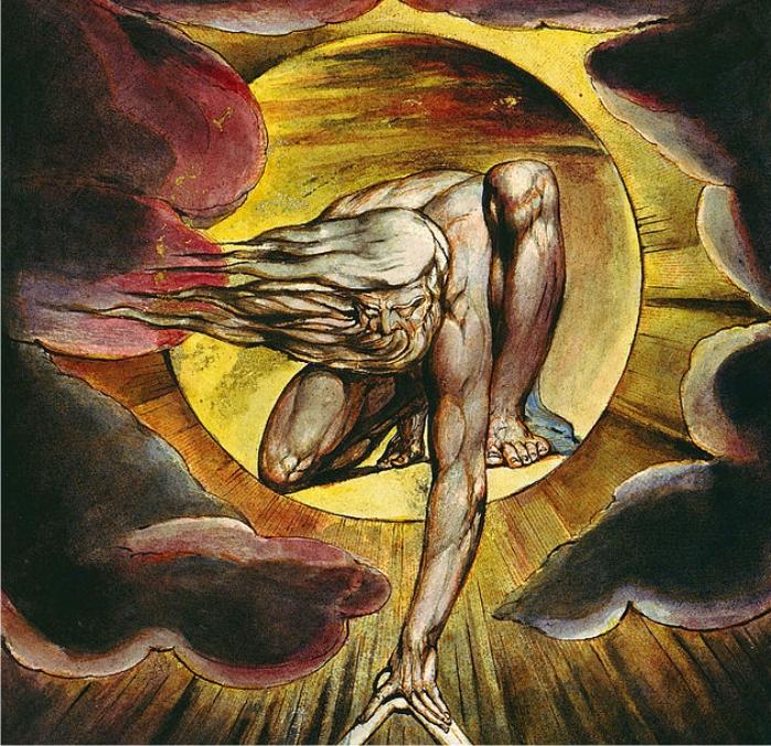 El Anciano de los Días, detalle de la portada de Europa una profecía. William Blake (DP)