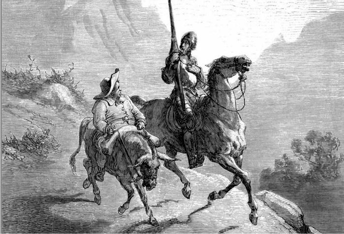 Don Quijote y Sancho, imaginados por Gustavo Doré (DP)