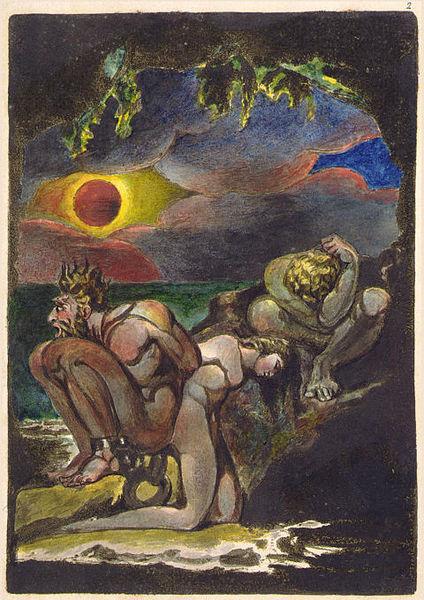 Lámina de Visiones de las hijas de Albion. William Blake (DP)