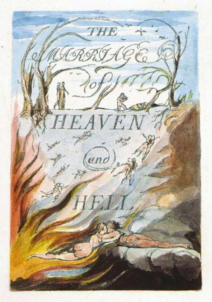 Portada de El matrimonio del Cielo y el Infierno. William Blake (DP)