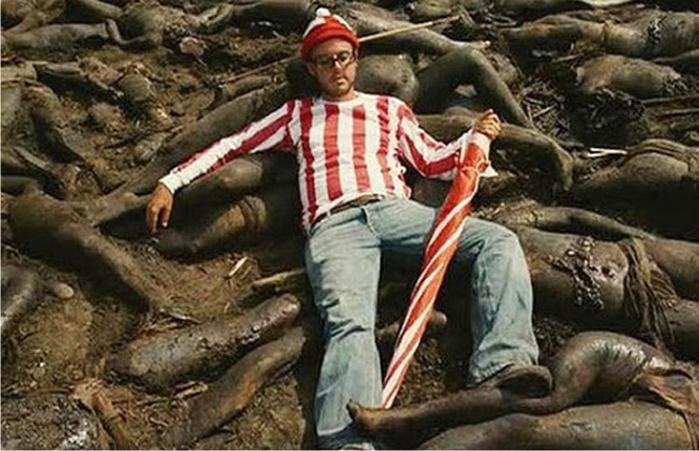 Waldo/Wally pisando fuerte a un indígena de goma. Apocalypto. Imagen: Icon Entertainment.