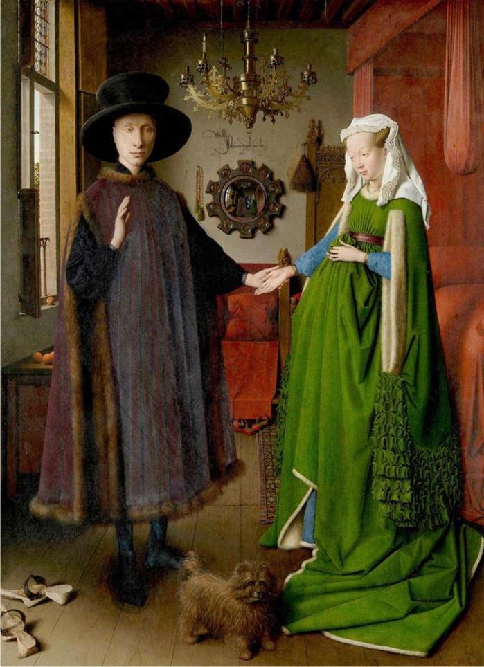 Ritratto dei coniugi Arnolfini, de  Jan Van Eyck (DP).