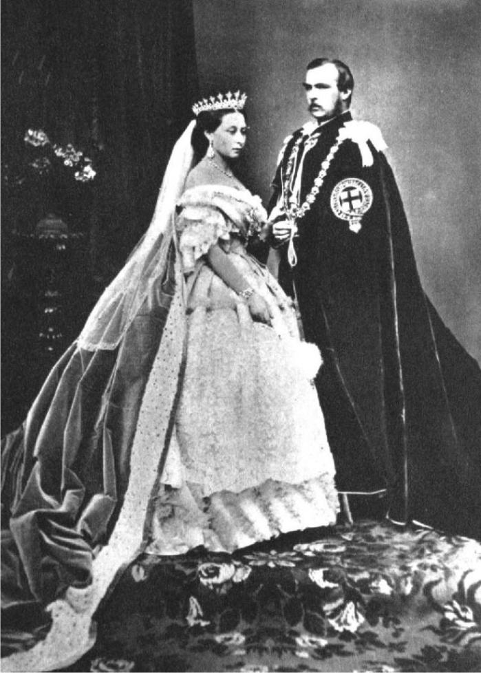 Recreación fotográfica de 1854 de la boda real (DP).