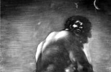 Detalle de el coloso, de Francisco de Goya (DP).