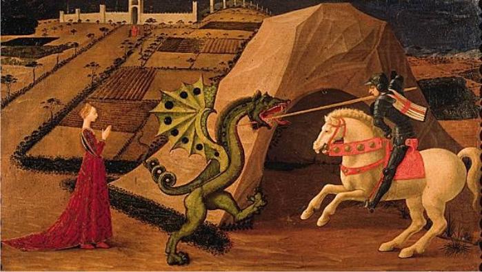 San Jorge y el dragón, de Paolo Uccello, año 1470.