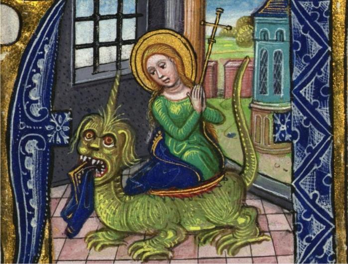 Santa Margarita de Antioquia y el dragón.