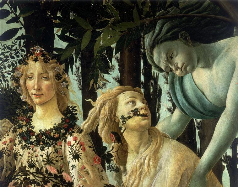 Sandro Botticelli, La Primavera (detalle)