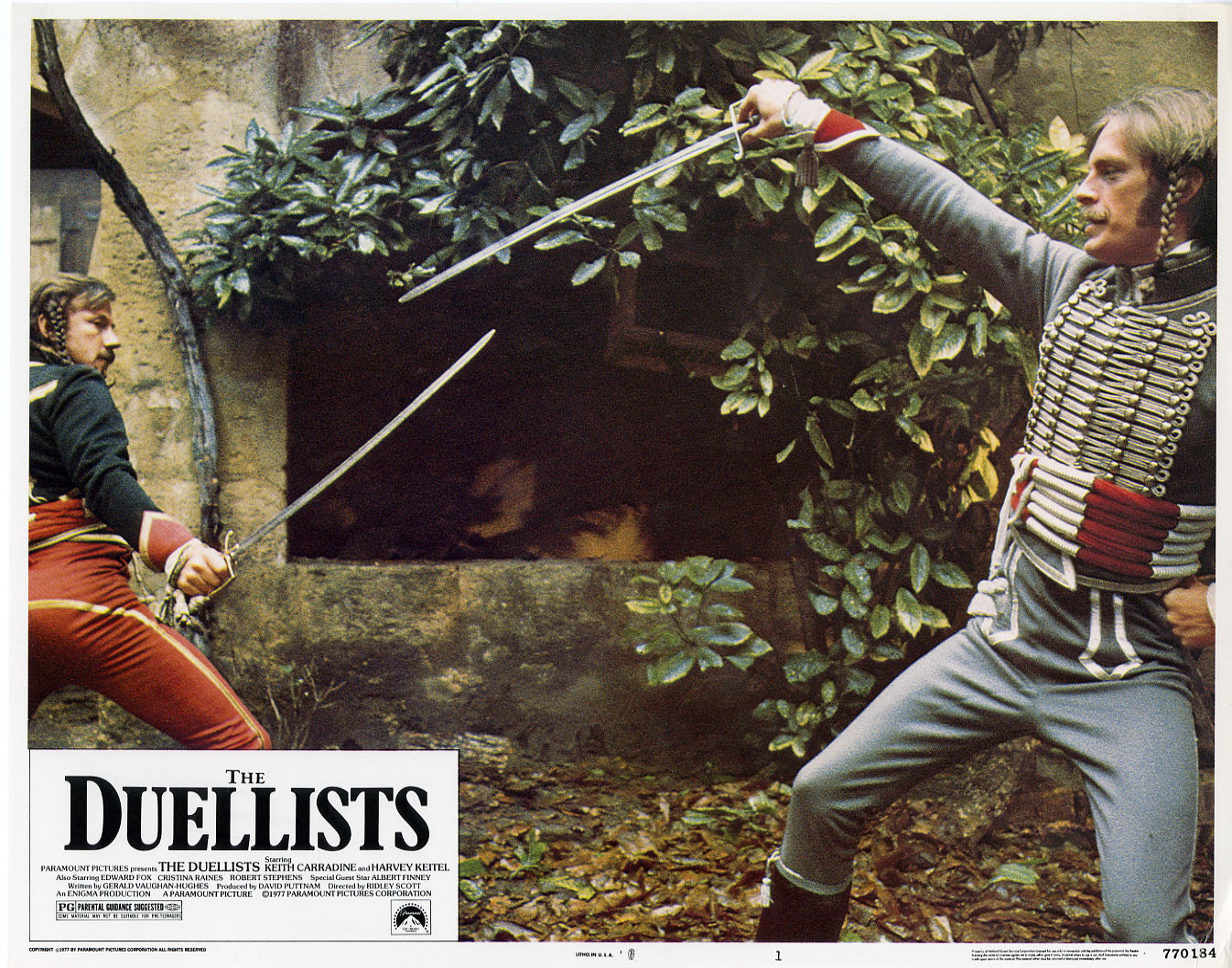 Los duelistas (1977). Imagen: Paramount Pictures / Enigma Productions / Scott Free Enterprises / National Film Finance Corporation (NFFC)