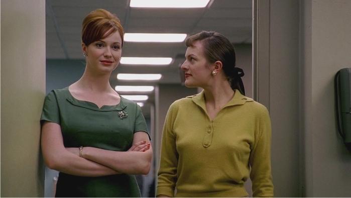 Joan Holloway (Christina Hendricks) y Peggy Olson (Elisabeth Moss). Imagen: AMC, Canal+.