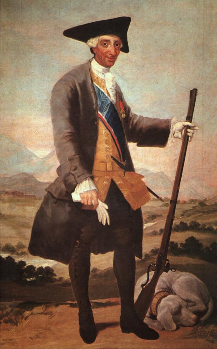 Carlos III en traje de cazador. Pintura de Francisco de Goya. (DP)