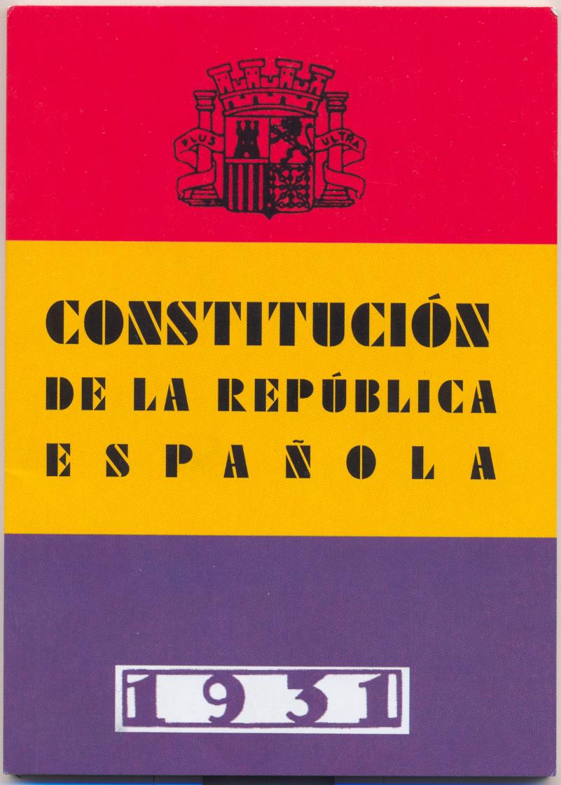 Cubierta de la Constitución de 1931 Fotografía: Dominio público.