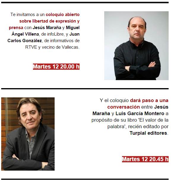 Doble sesión con periodistas y con Luis García Montero
