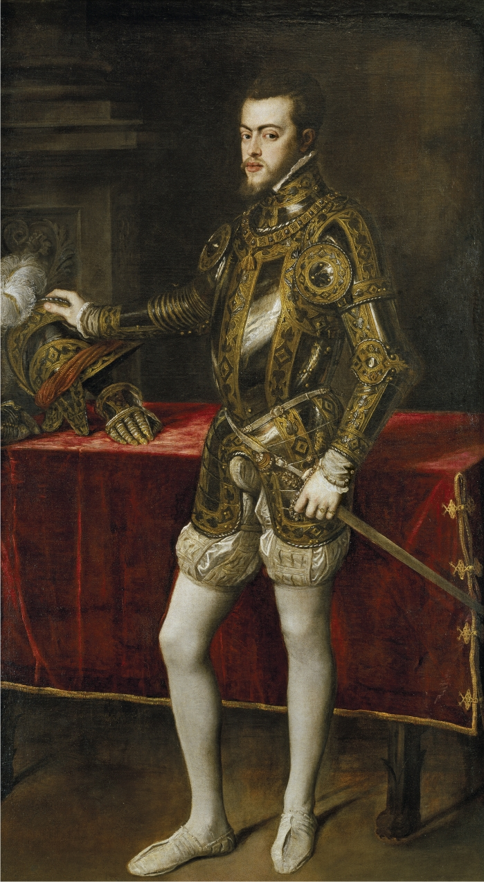 Felipe II. Pintura de Tiziano. (DP)