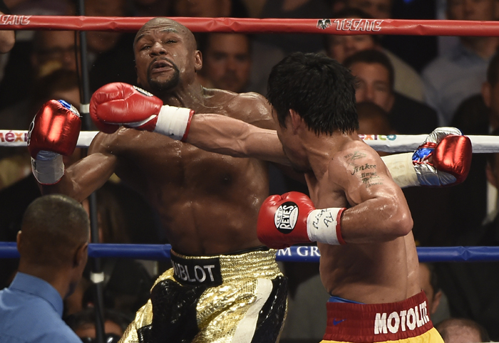 Floyd Mayweather Jr. contra Manny Pacquiao (Foto: Corbis)