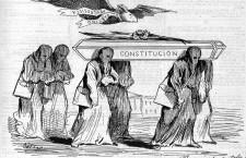 ¡¡¡¡Virgen y mártir!!!! Ilustración: revista satírica Gil Blas
